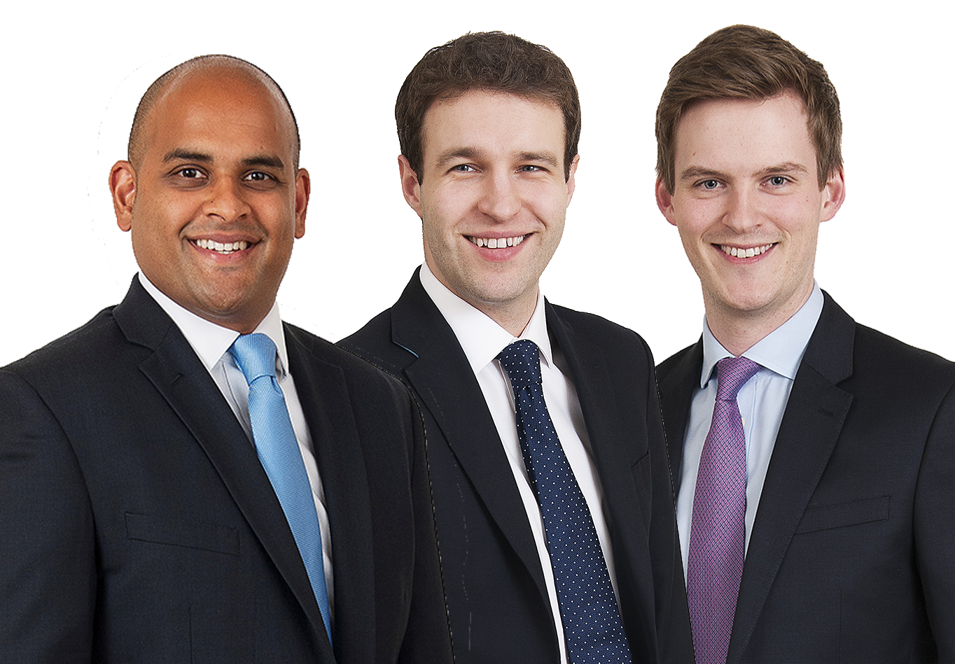 Harsha Wickremasinghe, Neil Smith and Lewis Gray